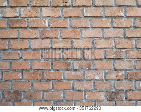 Red Brick Block Wall Show Pattern Stack Block Rough Surface Texture Material Background Weld The Joi