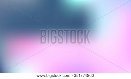 Gradient Mesh Vector Background, Hologram Neon Overlay. Funky Pink, Purple, Turquoise Dreamy Noble U