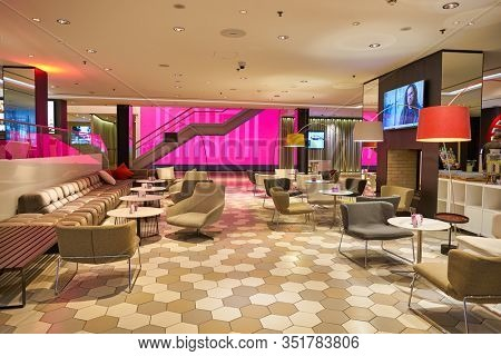 BERLIN, GERMANY - CIRCA SEPTEMBER, 2019: interior shot of Hotel NH Collection Berlin Mitte Friedrichstrasse in Berlin.