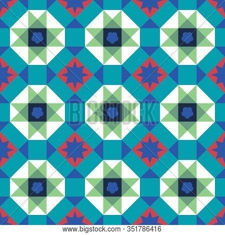 Vintage Peranakan Chinese Tiles Pattern In Georgetown Penang. Peranakan Cultural Tile Pattern. Baba