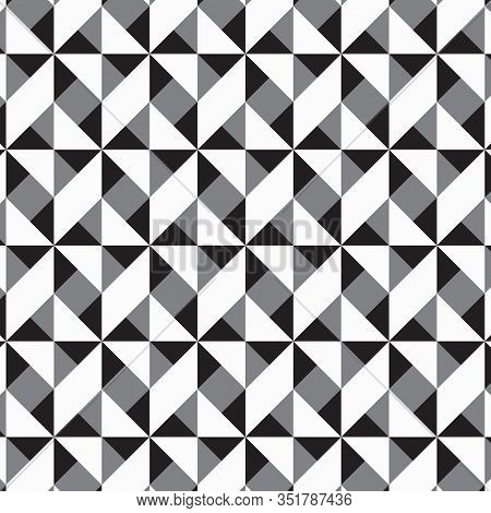 Geometric Vector Pattern, Repeating Hexagons And Triangle Shape. Pattern Clean For Wallpaper, Printi