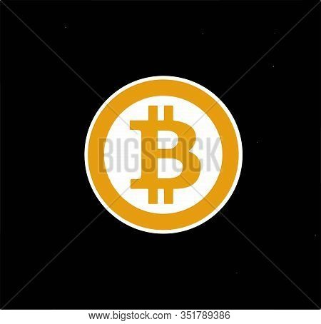 Bitcoin To Dollar Currency Exchange. Money Exchange Coins Template Set. Currency Exchange Design Vec