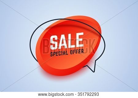 Sale Special Offer Banner. Geometric Shapes In 3d Style. Vector Illustration For Shop Promotions, Of