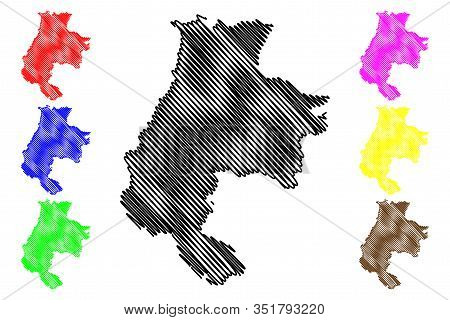 Macva District (republic Of Serbia, Districts In Sumadija And Western Serbia) Map Vector Illustratio