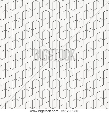 Linear Vector Pattern, Repeating Thin Line Décor For Clean Background. Pattern Is Clean For Design,