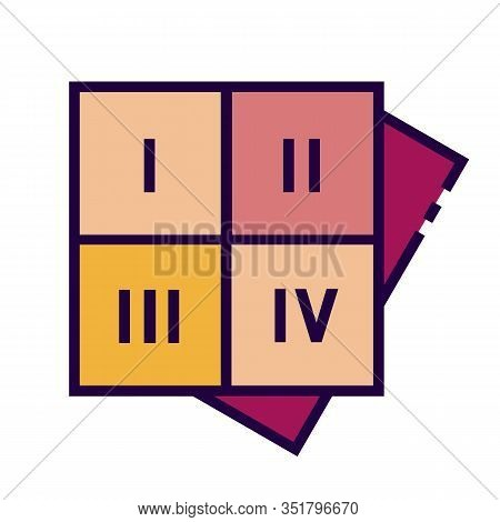 Numerology Square Icon Is In Flat And Pixel Perfect Style. Magic Vector Icon For Fortuneteller Or As