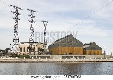 Architecture Of The Late 19th And Early 20th Centuries. Industrial Building Of The Liquidated Power
