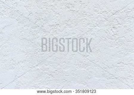 White Grunge Texture Wall Background With Space For Text Or Image. Vintage Rough White Background. C