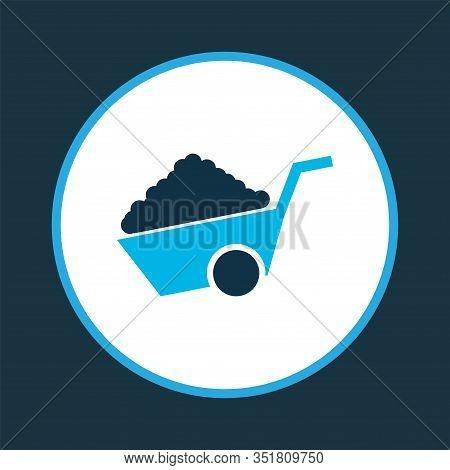 Construction Wheelbarrow Icon Colored Symbol. Premium Quality Isolated Pushcart Element In Trendy St