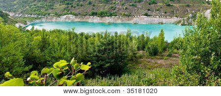 Beautiful lake in the canyon