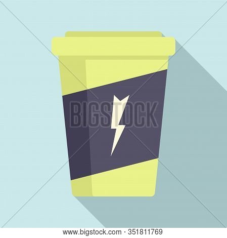 Carbonated Energy Drink Icon. Flat Illustration Of Carbonated Energy Drink Vector Icon For Web Desig