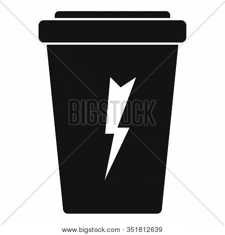 Carbonated Energy Drink Icon. Simple Illustration Of Carbonated Energy Drink Vector Icon For Web Des