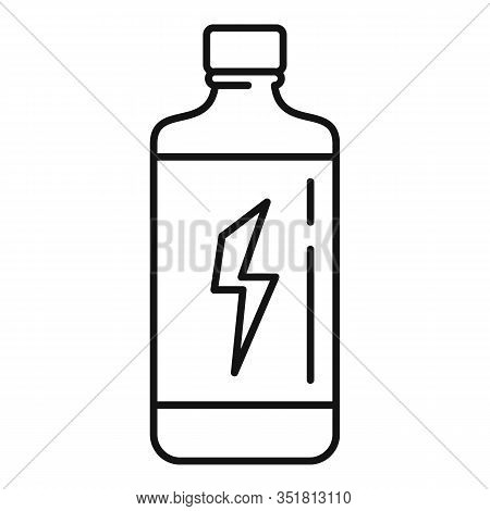 Carbonated Energy Drink Icon. Outline Carbonated Energy Drink Vector Icon For Web Design Isolated On