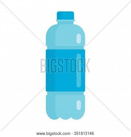 Flat Plastic Drink Healthy Agua Bottle Mockup Isolated On White Background Vector Illustration. Elem