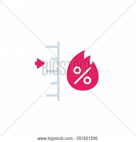 Fire Level Vector Sign, Icon, Eps 10 File, Easy To Edit