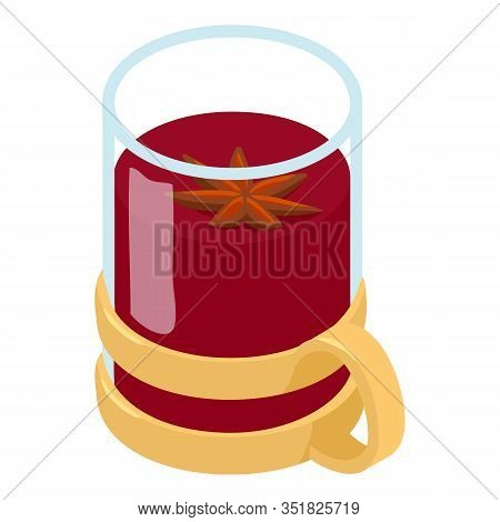 Mug Mulled Wine Icon. Isometric Of Mug Mulled Wine Vector Icon For Web Design Isolated On White Back