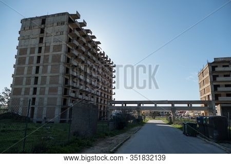 Ruin Of An Unfinished Concrete Skeleton Building