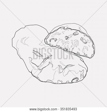 Ciabatta Icon Line Element. Illustration Of Ciabatta Icon Line Isolated On Clean Background For Your