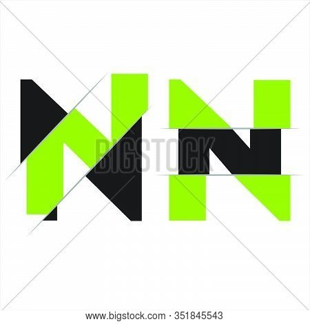 Modern Initial Letter N Cut Style Logo. Simple Icon, Template Design