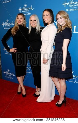 LOS ANGELES - FEB 11:  Pascale Hutton, Michelle Vicary, Erin Krakow, Andrea Brooks at the 'When Calls the Heart'  season 7 premiere at the Beverly Wilshire Hotel on February 11, 2020 in Beverly Hills,
