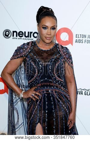 LOS ANGELES - FEB 9:  Vivica A Fox at the 28th Elton John Aids Foundation Viewing Party at the West Hollywood Park on February 9, 2020 in West Hollywood, CA