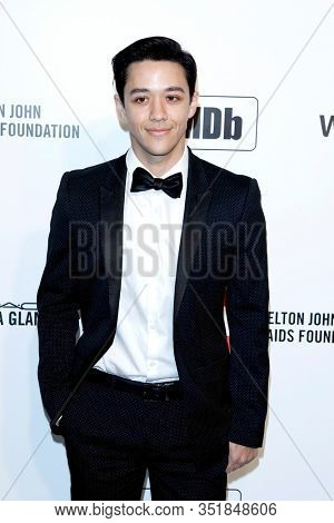 LOS ANGELES - FEB 9:  Kyle Hanagami at the 28th Elton John Aids Foundation Viewing Party at the West Hollywood Park on February 9, 2020 in West Hollywood, CA