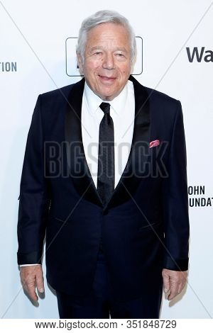 LOS ANGELES - FEB 9:  Robert Kraft at the 28th Elton John Aids Foundation Viewing Party at the West Hollywood Park on February 9, 2020 in West Hollywood, CA