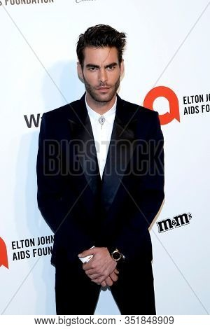 LOS ANGELES - FEB 9:  Jon Kortajarena at the 28th Elton John Aids Foundation Viewing Party at the West Hollywood Park on February 9, 2020 in West Hollywood, CA
