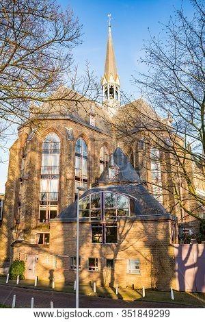 Utrecht, Netherlands - January 06, 2020. Old Neo Gothic Church Martinuskerk Rebuilded For Living
