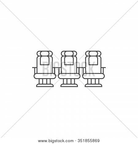 Airplane Seats Vector Icon Symbol Isolated On White Background