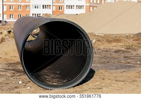 Industrial Plastic Pipes Made Of Polyethylene, Hdpe