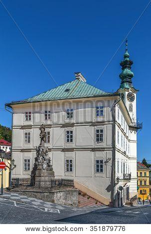 Town Hall In Banska Stiavnica Old Town, Slovakia