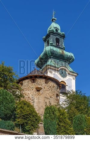 Church Of The Old Castle In The Historic Town Banska Stiavnica, Slovakia