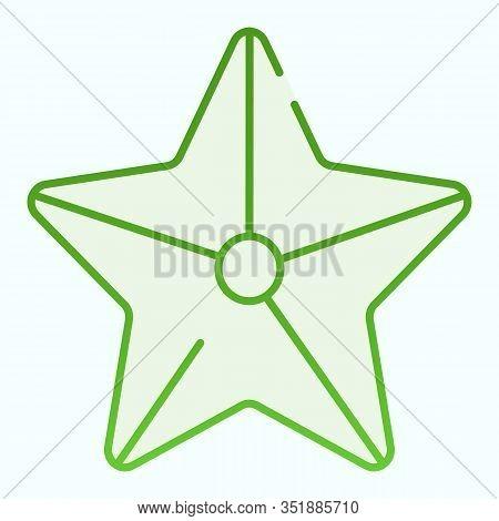 Starfish Flat Icon. Marine Star Illustration Isolated On White. Starfish Gradient Style Design, Desi