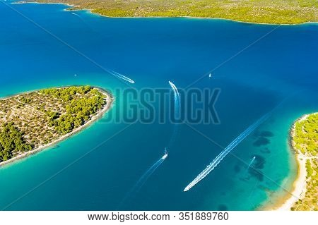 Croatia, Adriatic Paradise, Beautiful Mediterranean Islands On Coastline, Murter Archipelago Coastli