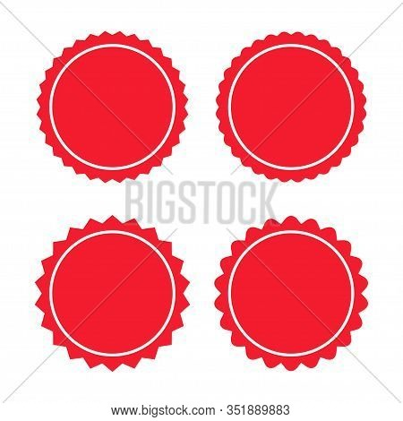 Set Of Sunburst Badges, Labels, Stickers Vector