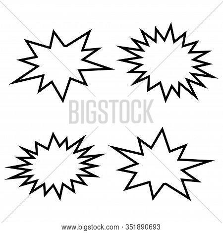 Vector Bursting Speech Star Set. Vector Illustration