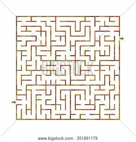 Vector Maze Labyrinth On White Background. Vector Illustration