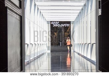 Bangkok, Thailand - 31st July 2017: Walkway Between The Siam Centre And The Siam Discovery Centre. T