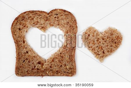Whole Wheat Bread With Heart