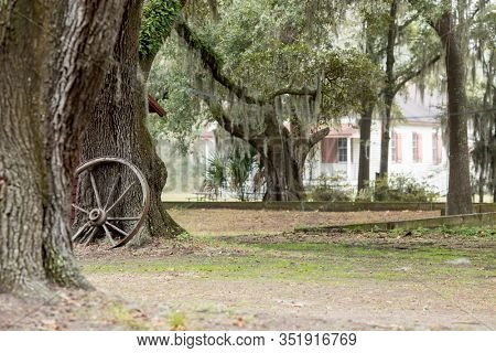 BEAUFORT, SOUTH CAROLINA, USA-DECEMBER 17, 2019: Penn Center, the African American cultural site and one of the centers of Gullah culture in South Carolina.