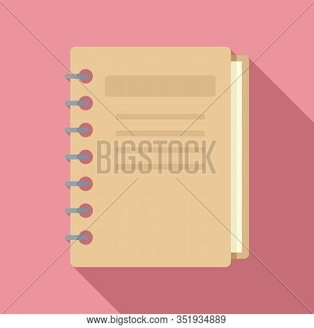 Inventory Notebook Icon. Flat Illustration Of Inventory Notebook Vector Icon For Web Design