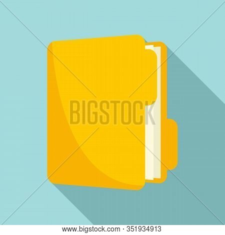 Inventory Folder Icon. Flat Illustration Of Inventory Folder Vector Icon For Web Design