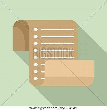 Inventory List Icon. Flat Illustration Of Inventory List Vector Icon For Web Design
