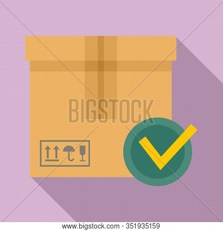Sealed Parcel Icon. Flat Illustration Of Sealed Parcel Vector Icon For Web Design