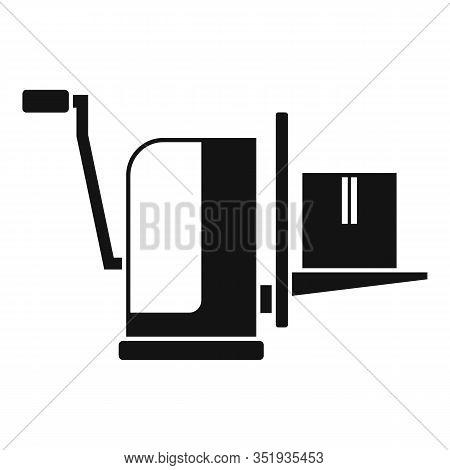 Parcel Lift Equipment Icon. Simple Illustration Of Parcel Lift Equipment Vector Icon For Web Design