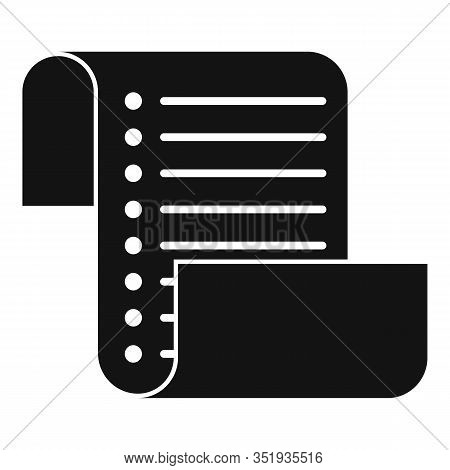 Inventory List Icon. Simple Illustration Of Inventory List Vector Icon For Web Design Isolated On Wh