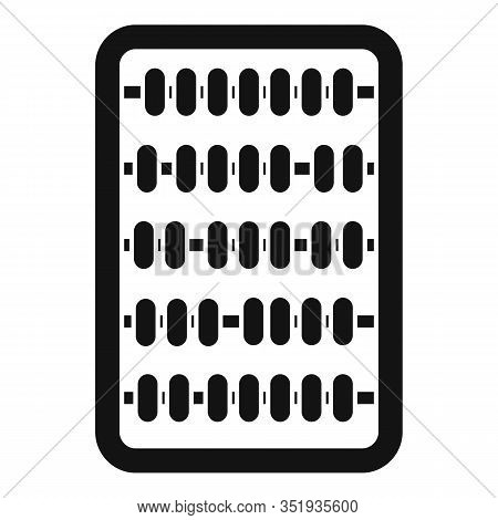 Abacus Icon. Simple Illustration Of Abacus Vector Icon For Web Design Isolated On White Background