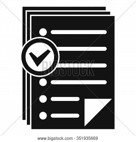 Approved Inventory Papers Icon. Simple Illustration Of Approved Inventory Papers Vector Icon For Web