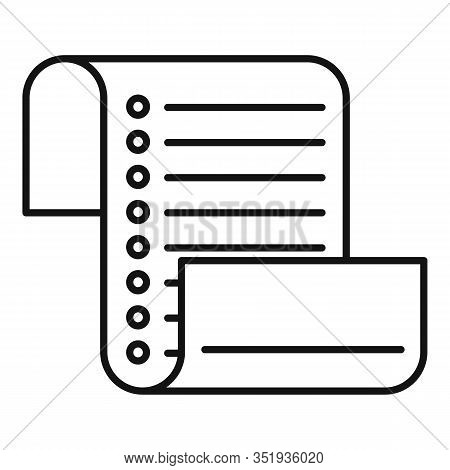 Inventory List Icon. Outline Inventory List Vector Icon For Web Design Isolated On White Background